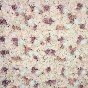 Rose Peony Flower Wall