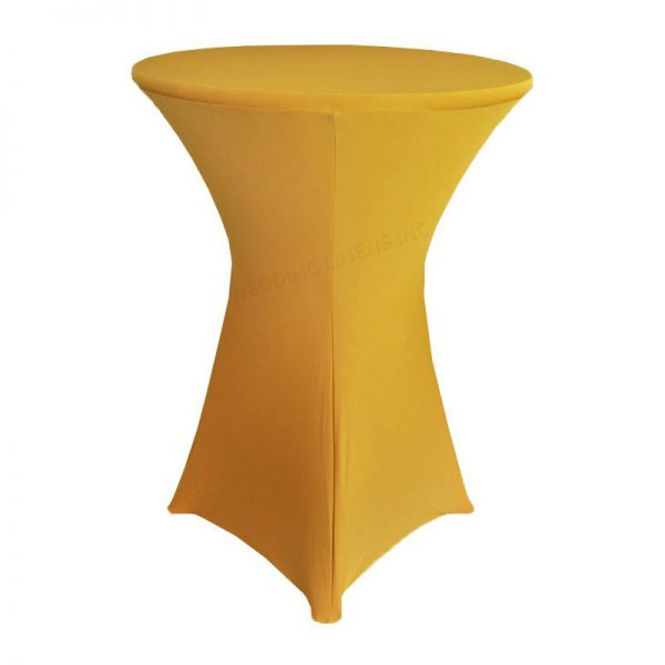 gold high bar table stretch cover