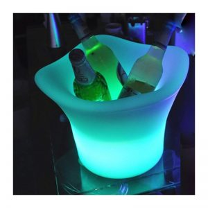 led champagne bucket