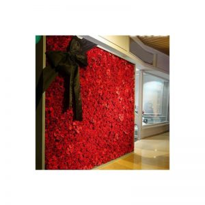 red flower wall for hire