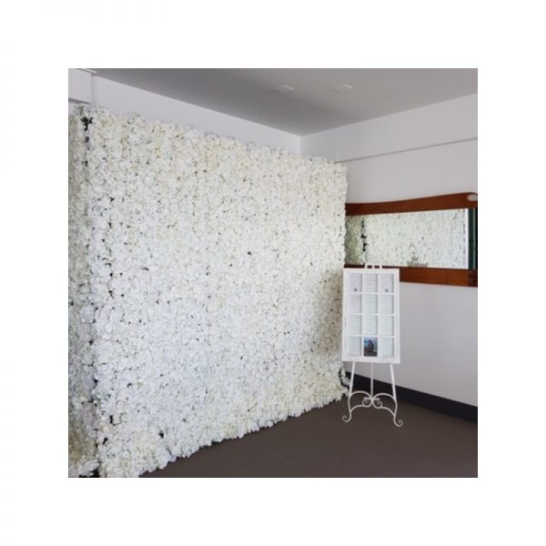 white flower wall hire